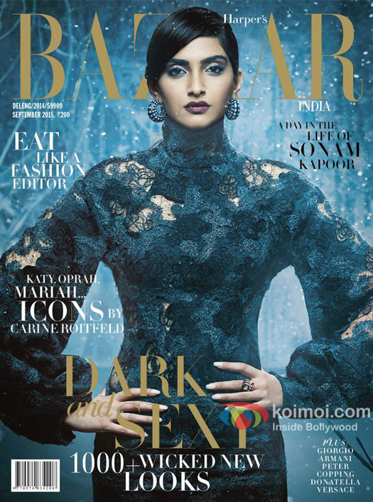 Sonam Kapoor's Dark, Sexy, Goth Avatar On The Cover Of Harper's Bazaar Magazine
