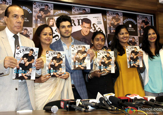 Zarina Wahab and Sooraj Pancholi during the launch of Stardust Magazine's latest cover