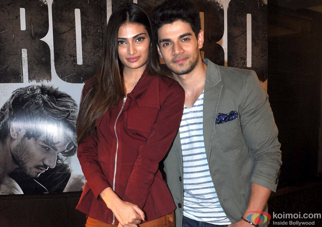 Athiya Shetty and Sooraj Pancholi at an event