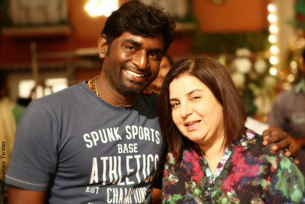 K. K. Senthil Kumar and Farah Khan on the sets of 'Dilwale'