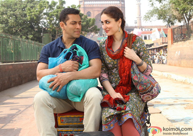 Salman Khan and Kareena Kapoor in a still from movie 'Bajrangi Bhaijaan'