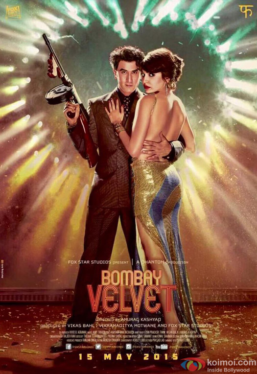 Ranbir Kapoor and Anushka Sharma in a still from movie 'Bombay Velvet'