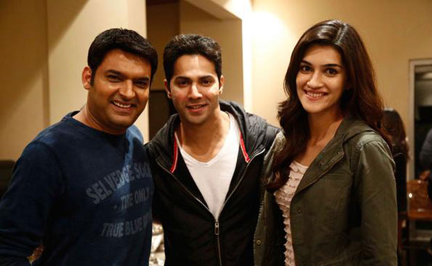 Kapil Sharma, Varun Dhawan and Kriti Sanon