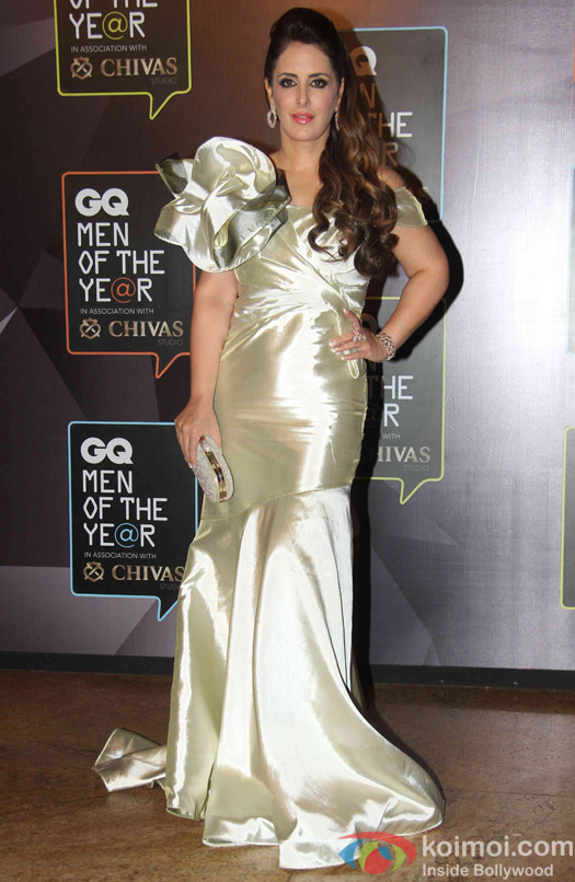 Pria Kataria Puri with husband Sumit Puri during the GQ Men of The Year Awards 2015