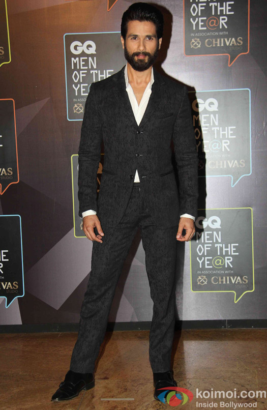 Shahid Kapoor during the GQ Men of The Year Awards 2015