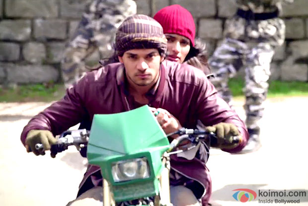 Sooraj Pancholi  and Athiya Shetty in a still from movie 'Hero'