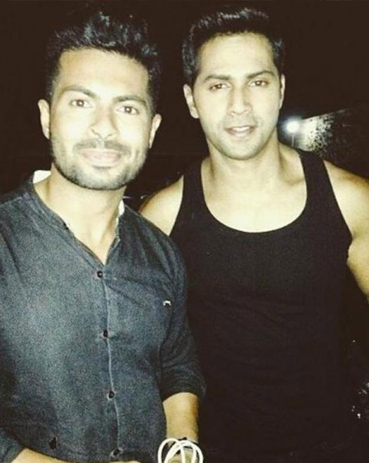 Varun Dhawan on the sets of movie 'Dilwale'