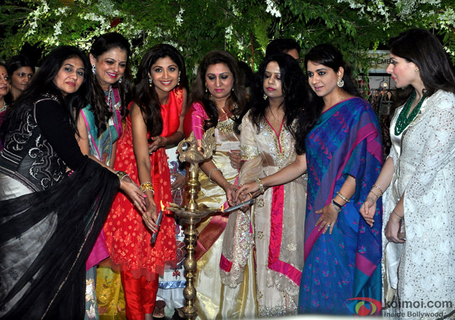 Shilpa Shetty and Shaina NC during the Inauguration of IMC Ladies Wing Exhibition