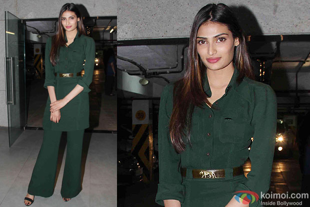 Athiya Shetty during the special screening of hero