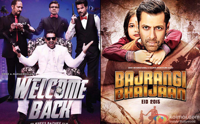 Welcome Back and Bajrangi Bhaijaan Movie Poster