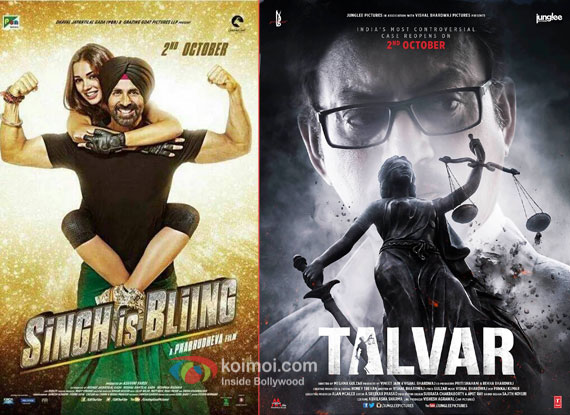 Singh Is Bliing and Talvar movie posters