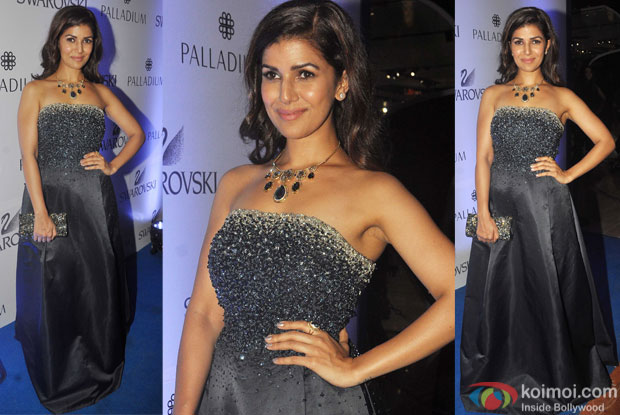 Nimrat Kaur during the launch of a art event by Swarovski
