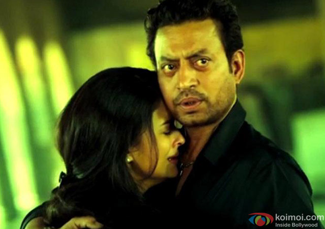 Aishwarya Rai and Irrfan Khan in a still from movie 'Jazbaa'