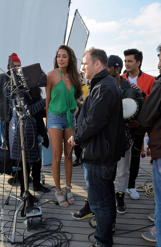 Lisa Haydon on the sets of Housefull 3