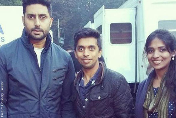 Abhishak bachchan on the sets of Housefull 3