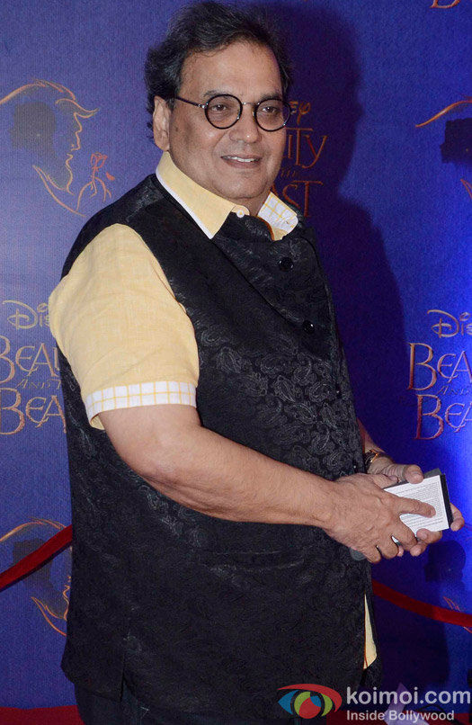Subhash Ghai at the premier of Disney India's stage musical 'Beauty and the Beast'