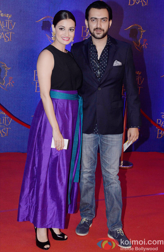 Dia Mirza and Sahil Sangha at the premier of Disney India's stage musical 'Beauty and the Beast'