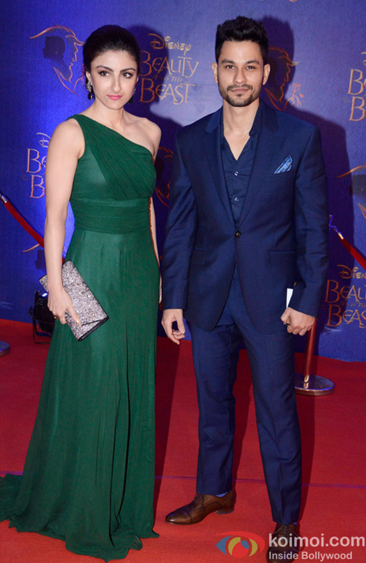 Soha Ali Khan and Kunal Khemu at the premier of Disney India's stage musical 'Beauty and the Beast'