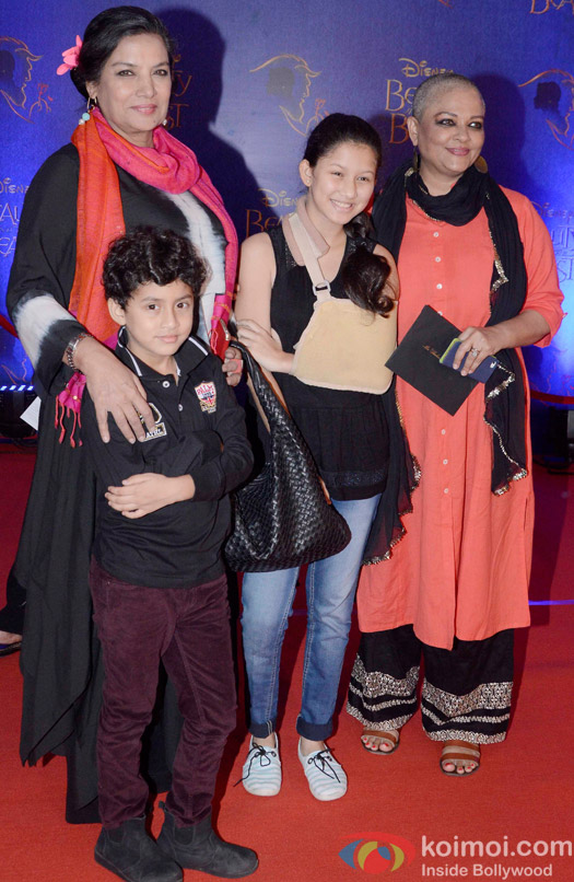 Shabana Azmi at the premier of Disney India's stage musical 'Beauty and the Beast'