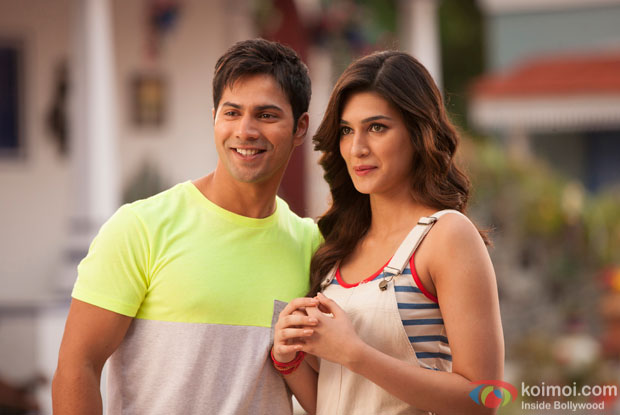 Varun Dhawan and Kriti Sanon on the sets of 'Dilwale'