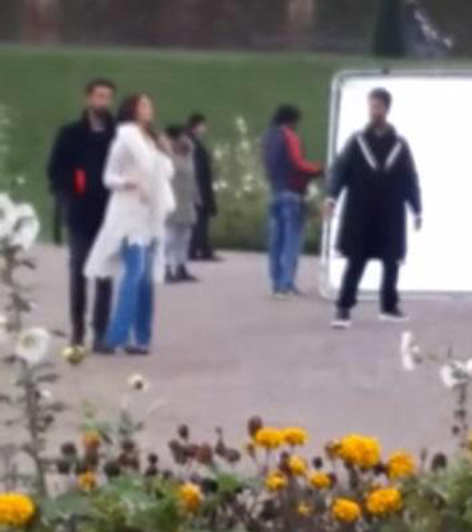 Ranbir Kapoor, Aishwarya Rai Bachchan And Karan Johar On The Sets Of Ae Dil Hai Mushkil