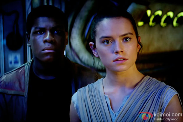 A still from 'Star Wars: The Force Awakens'