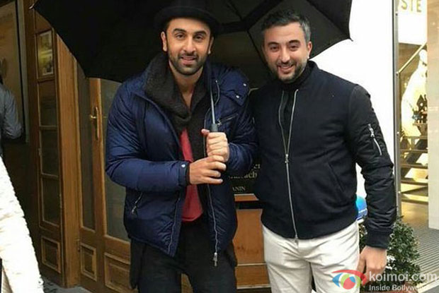 Ranbir Kapoor on the sets of Ae Dil Hai Mushkil