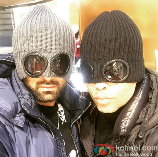 Karan Johar and Ranbir Kapoor on the sets of Ae Dil Hai Mushkil