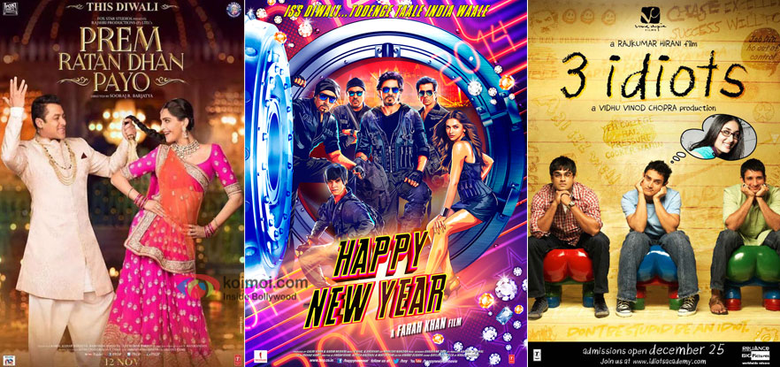 Box Office - Salman's Prem Ratan Dhan Payo goes past Aamir's 3 Idiots, will cross Shahrukh's Happy New Year today
