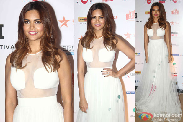 Esha Gupta during the closing ceremony of Jio MAMI 17th Mumbai Film Festival