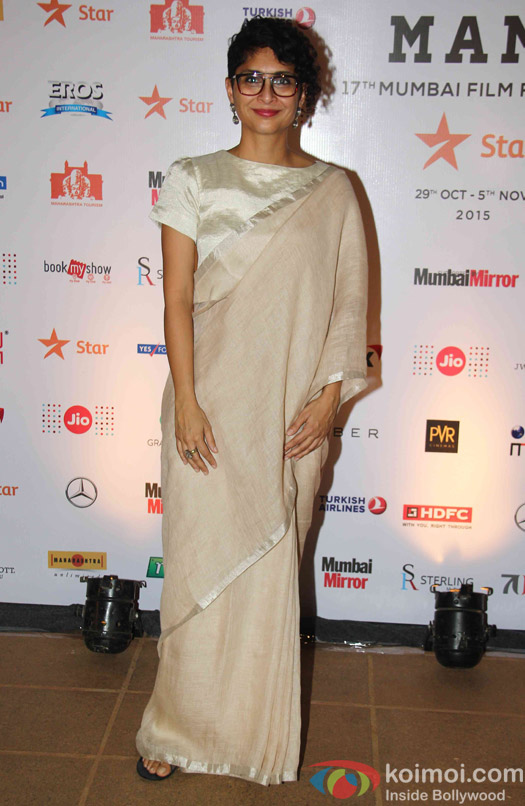 Kiran Rao during the closing ceremony of Jio MAMI 17th Mumbai Film Festival