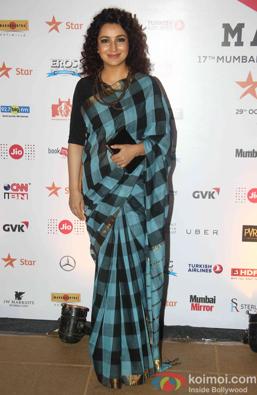 Tisca Chopra during the closing ceremony of Jio MAMI 17th Mumbai Film Festival