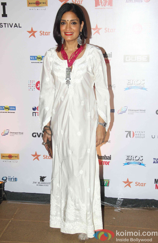 Sandhya Mrudul during the closing ceremony of Jio MAMI 17th Mumbai Film Festival
