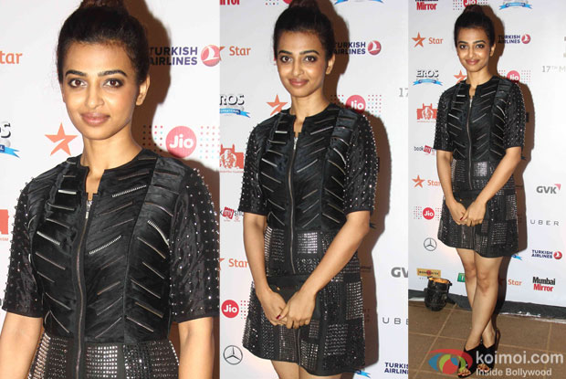 Radhika Apte during the closing ceremony of Jio MAMI 17th Mumbai Film Festival