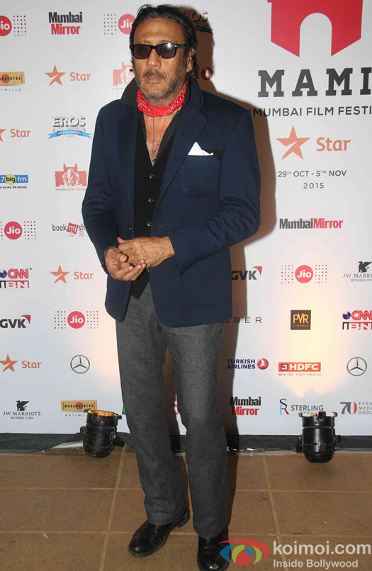 Jackie Shroff during the closing ceremony of Jio MAMI 17th Mumbai Film Festival