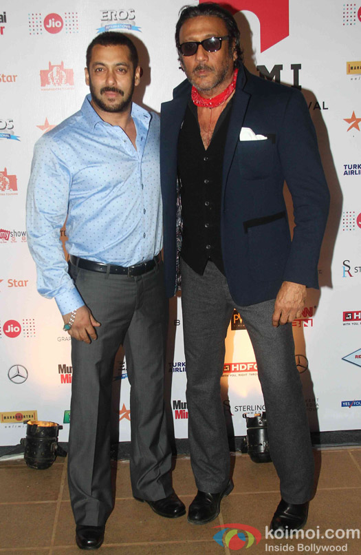 Salman Khan and Jackie Shroff during the closing ceremony of Jio MAMI 17th Mumbai Film Festival