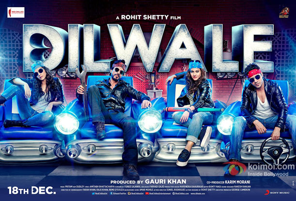 Kriti Sanon, Shah Rukh Khan, Kajol and Varun Dhawan in still from 'Dilwale' movie poster