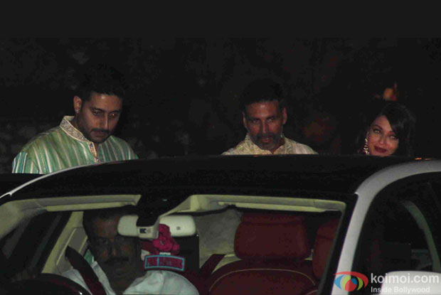 Abhishek Bachchan And Aishwarya Rai Bachchan attend Akshay Kumar's Diwali party