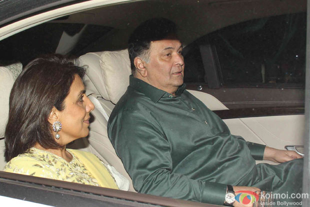 Neetu Singh and Rishi Kapoor attend Akshay Kumar's Diwali party