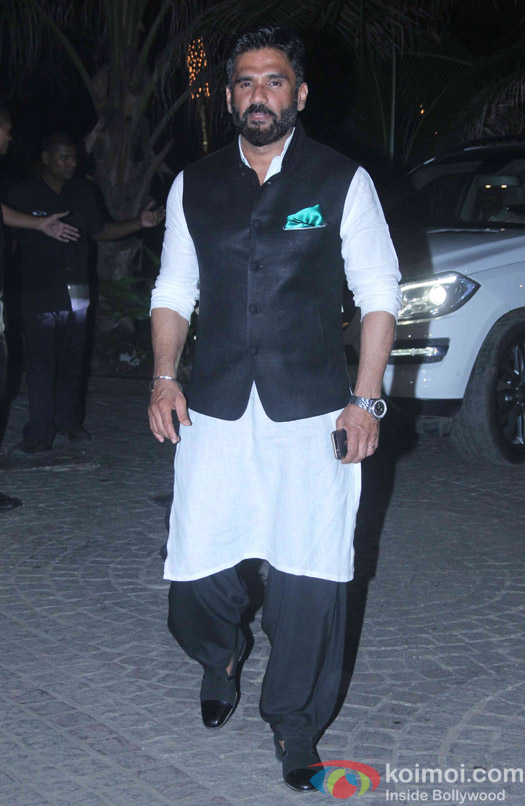 Sunil Shetty attend Akshay Kumar's Diwali party