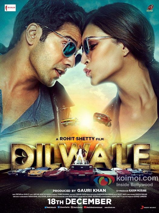 Varun Dhawan and Kriti Sanon in a still from 'Dilwale' movie poster