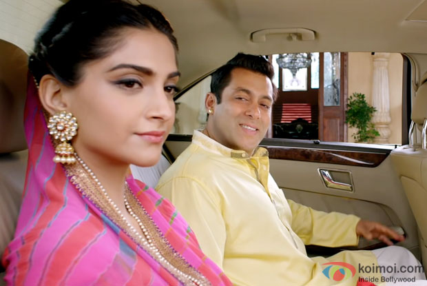 Sonam Kapoor and Salman Khan in a still from 'Prem Ratan Dhan Payo'