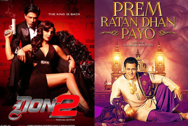 Don2 and Prem Ratan Dhan Payo Movie Poster