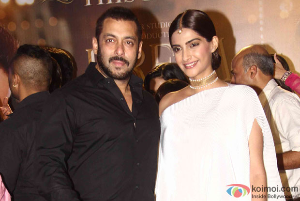 Salman Khan and Sonam Kapoor during the promotion of film Prem Ratan Dhan Payo