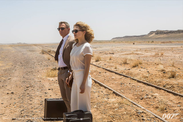 Daniel Craig and Léa Seydoux in a still from movie 'Spectre'