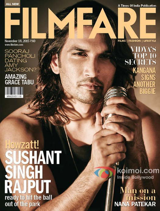 Sushant Singh Rajput On Filmfare Cover