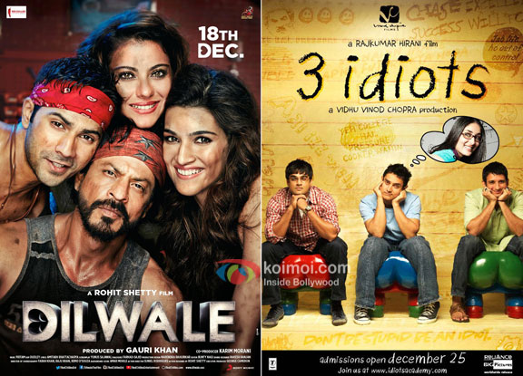 'Dilwale' Becomes The 4th Highest Overseas Grosser Of All Time, Beats '3 Idiots'