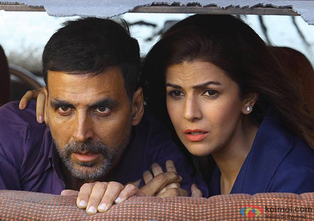 Akshay Kumar and Nimrat Kaur in a still from movie 'Airlift'