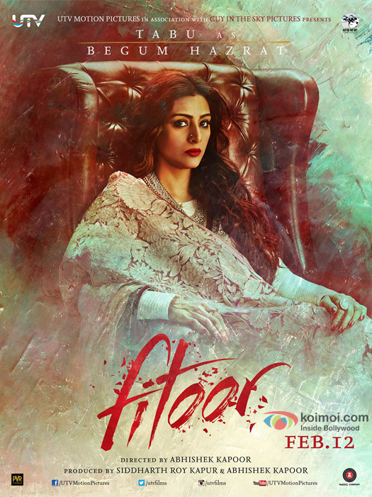 Tabu in a 'Fitoor' Movie Poster 4