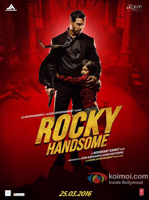John Abraham in a still from 'Rocky Handsome' movie poster